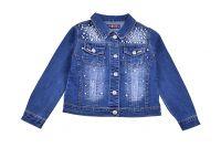 Модерно дънково яке за момиче с перли (от 8г. до 16 години)